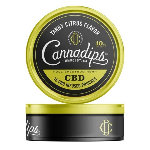 Cannadips Cannabis Pouches - Tangy Citrus